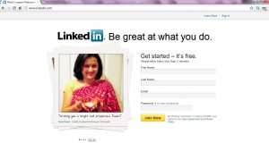 Linkedin Home Page as on Oct 31st 2011